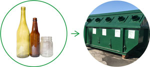 Go for extra points: take glass bottles to public recycling collection sites