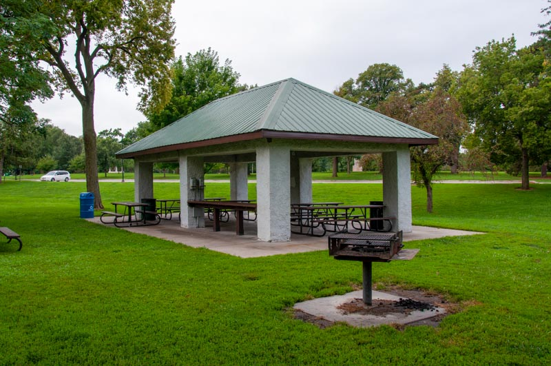 Shelter 3, located near the playground in Antelope Park, is open and ready for picnics Spring-Fall.