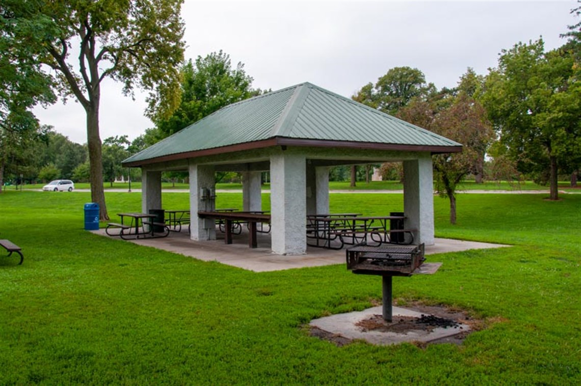 Shelter 2, located near the playground in Antelope Park, is open and ready for picnics Spring-Fall.